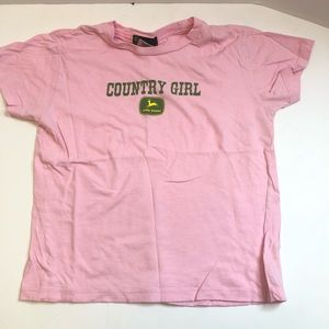 Girls John Deere Country Girl Tshirt Size Large